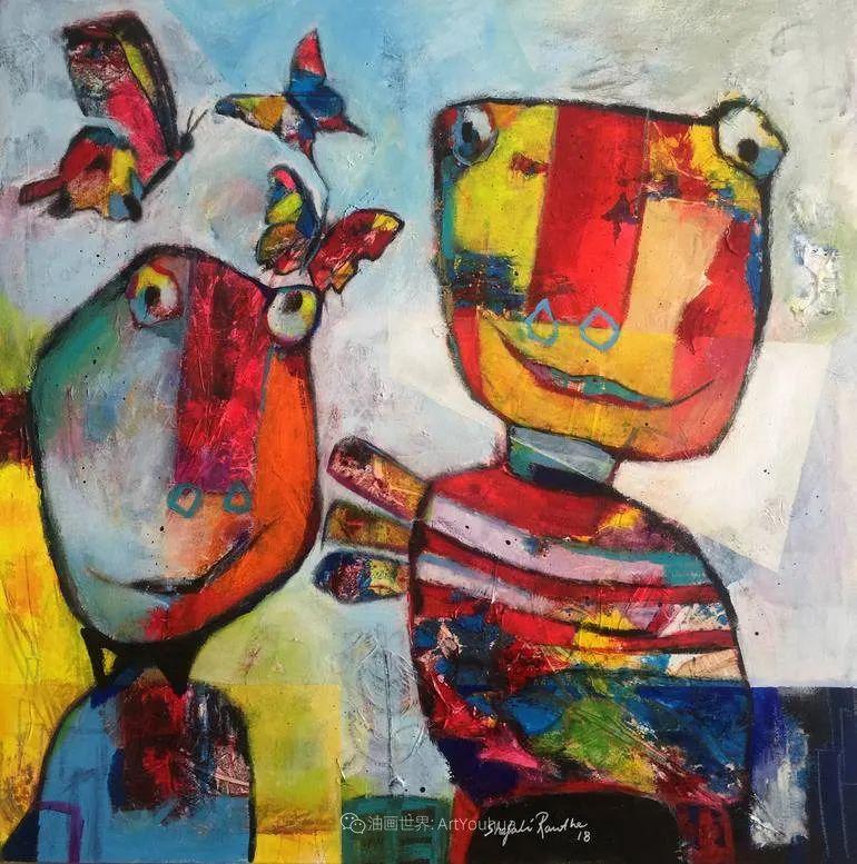 她的艺术是丰富多彩的,孟加拉国艺术家谢法利·兰特插图51
