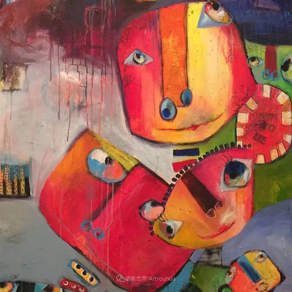 她的艺术是丰富多彩的,孟加拉国艺术家谢法利·兰特插图53