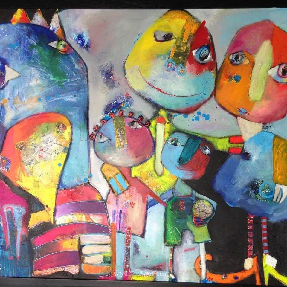她的艺术是丰富多彩的,孟加拉国艺术家谢法利·兰特插图54