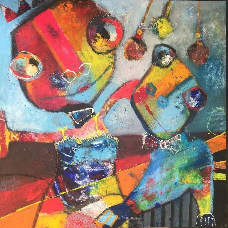 她的艺术是丰富多彩的,孟加拉国艺术家谢法利·兰特插图55