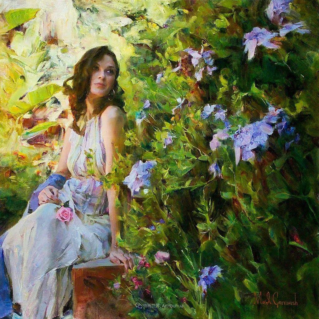 甜蜜的爱和彼此热爱的绘画,优秀浪漫的印象派伉俪画家插图5