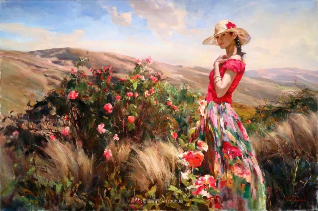 甜蜜的爱和彼此热爱的绘画,优秀浪漫的印象派伉俪画家插图7