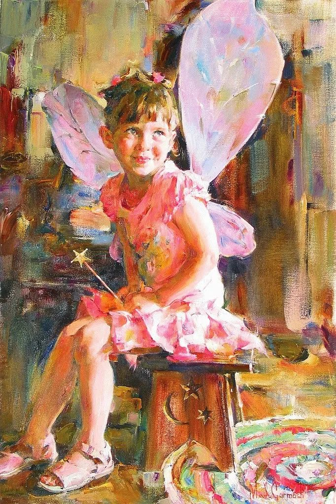 甜蜜的爱和彼此热爱的绘画,优秀浪漫的印象派伉俪画家插图21