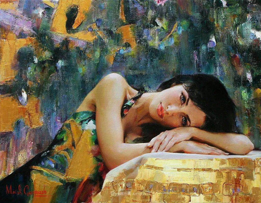 甜蜜的爱和彼此热爱的绘画,优秀浪漫的印象派伉俪画家插图27