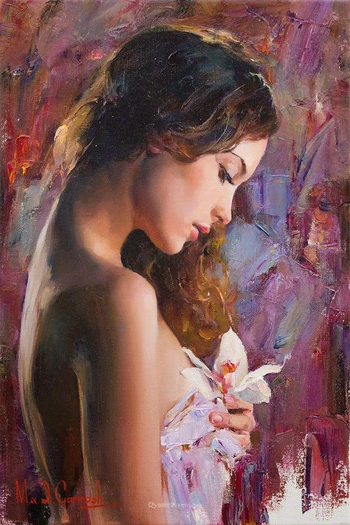 甜蜜的爱和彼此热爱的绘画,优秀浪漫的印象派伉俪画家插图33