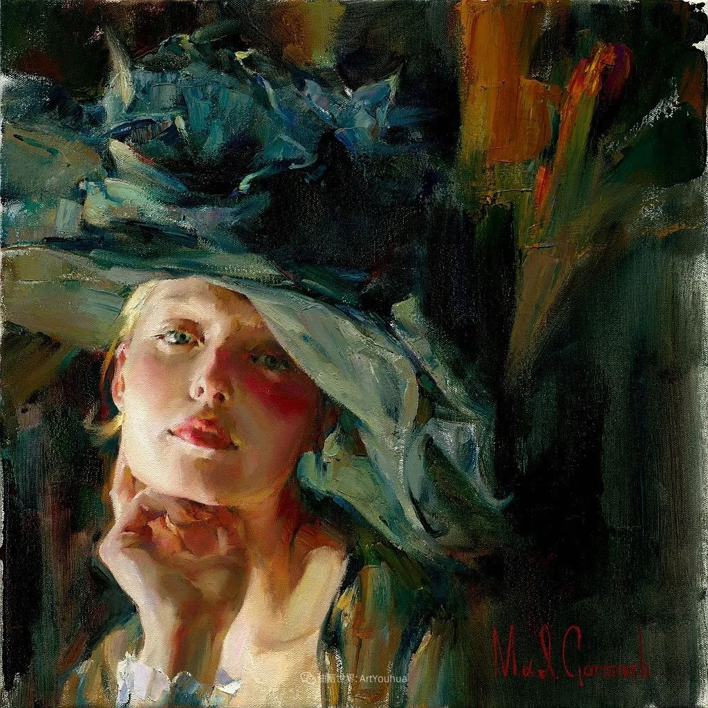 甜蜜的爱和彼此热爱的绘画,优秀浪漫的印象派伉俪画家插图37