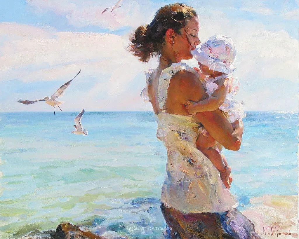 甜蜜的爱和彼此热爱的绘画,优秀浪漫的印象派伉俪画家插图41