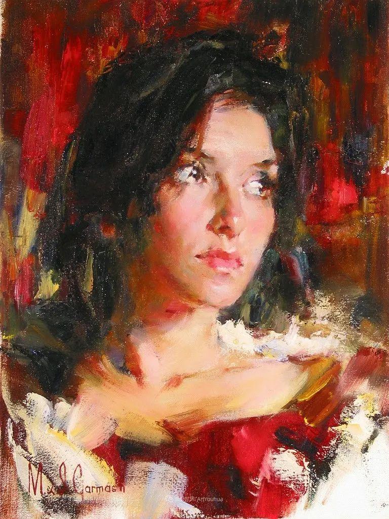 甜蜜的爱和彼此热爱的绘画,优秀浪漫的印象派伉俪画家插图43