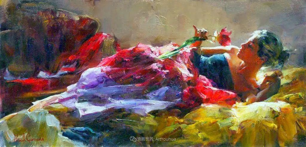 甜蜜的爱和彼此热爱的绘画,优秀浪漫的印象派伉俪画家插图45
