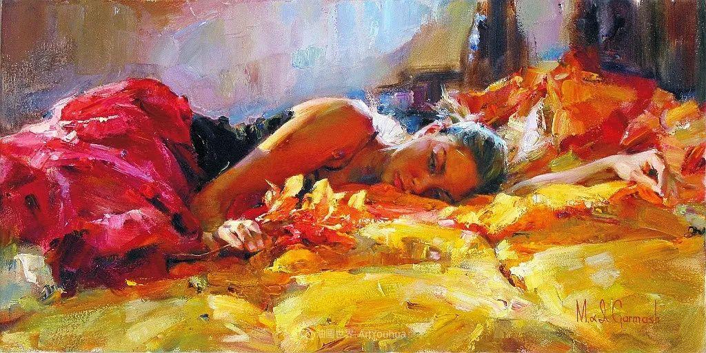 甜蜜的爱和彼此热爱的绘画,优秀浪漫的印象派伉俪画家插图47