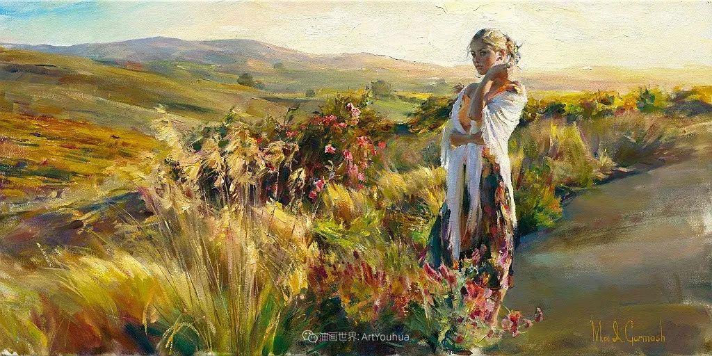 甜蜜的爱和彼此热爱的绘画,优秀浪漫的印象派伉俪画家插图49