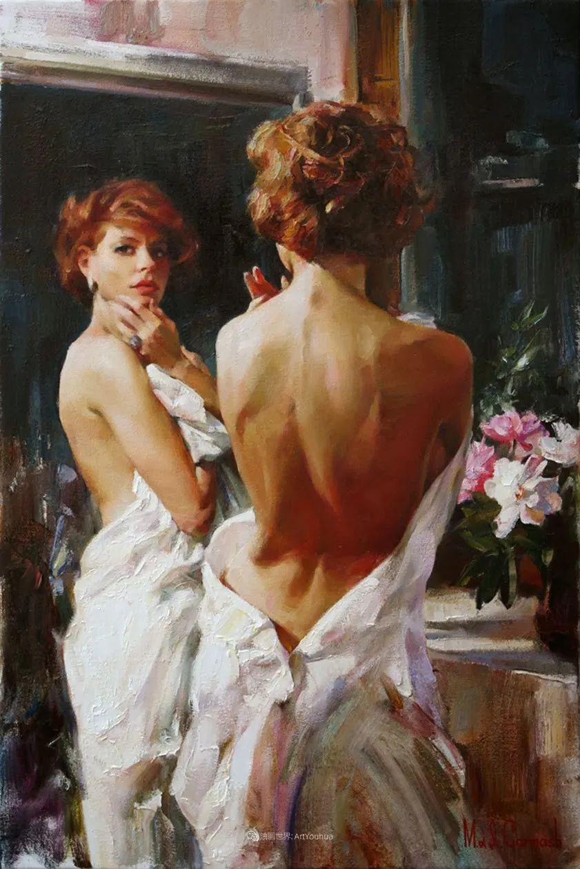 甜蜜的爱和彼此热爱的绘画,优秀浪漫的印象派伉俪画家插图59