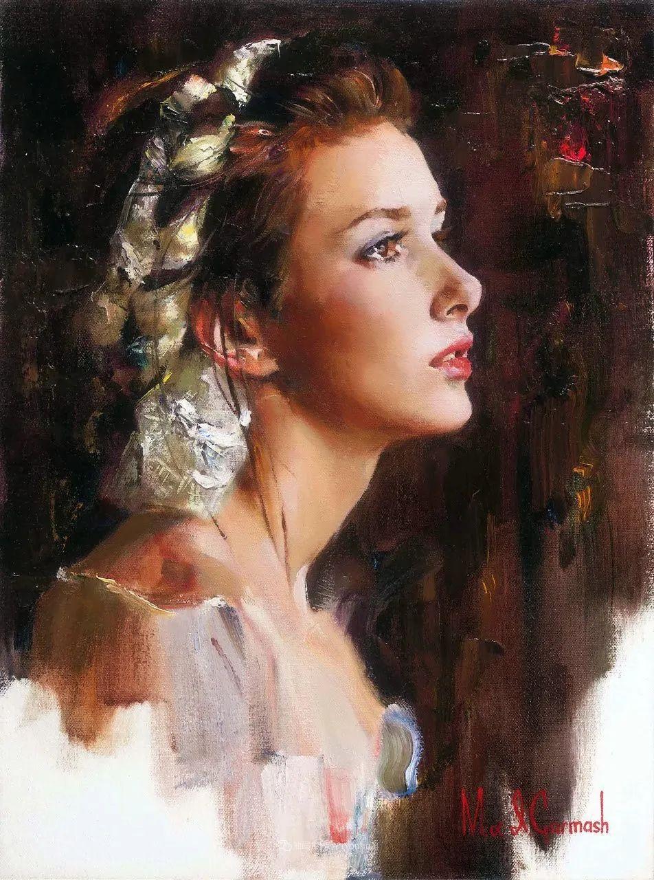 甜蜜的爱和彼此热爱的绘画,优秀浪漫的印象派伉俪画家插图63