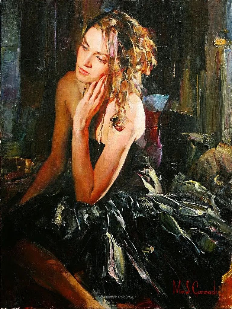 甜蜜的爱和彼此热爱的绘画,优秀浪漫的印象派伉俪画家插图69