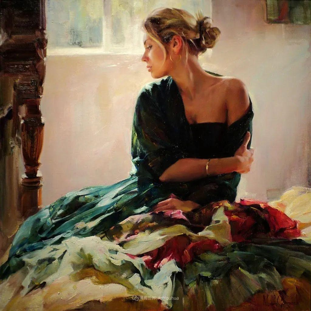甜蜜的爱和彼此热爱的绘画,优秀浪漫的印象派伉俪画家插图73