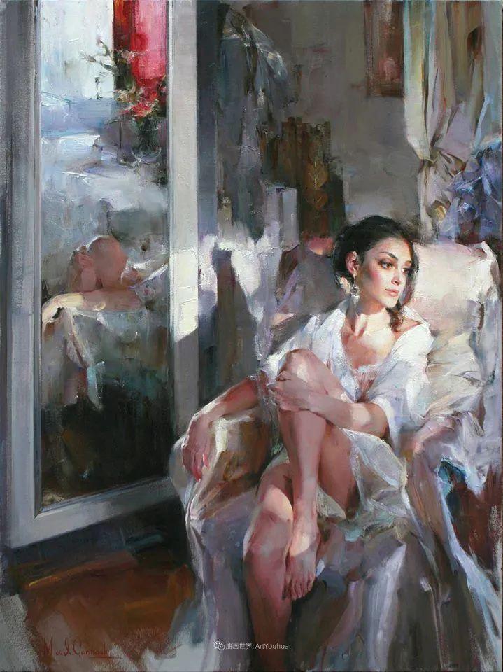 甜蜜的爱和彼此热爱的绘画,优秀浪漫的印象派伉俪画家插图75