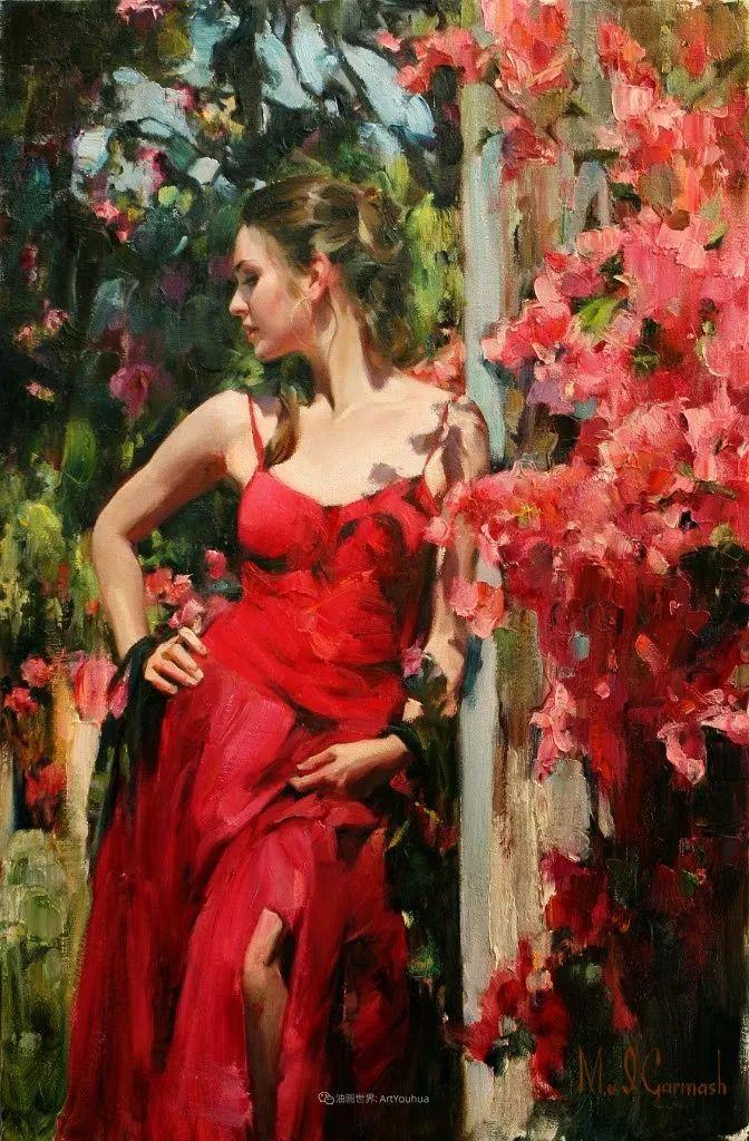 甜蜜的爱和彼此热爱的绘画,优秀浪漫的印象派伉俪画家插图79