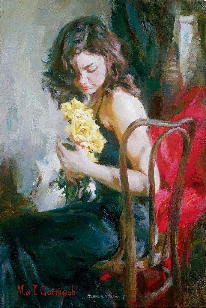 甜蜜的爱和彼此热爱的绘画,优秀浪漫的印象派伉俪画家插图87