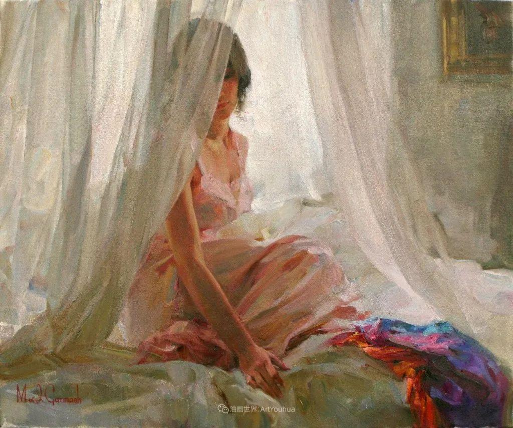 甜蜜的爱和彼此热爱的绘画,优秀浪漫的印象派伉俪画家插图99
