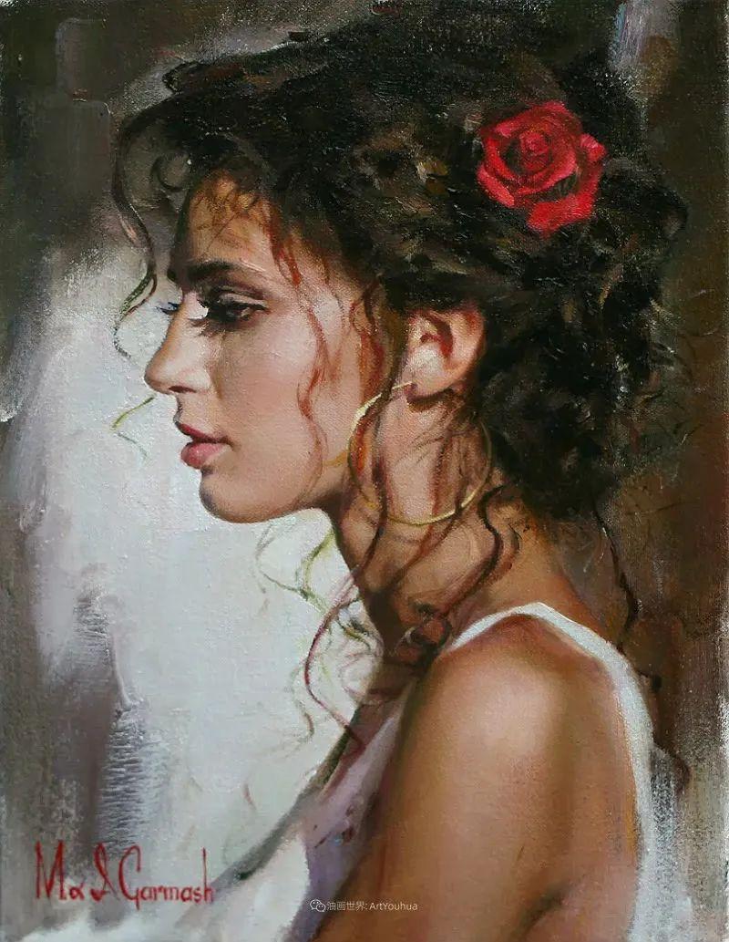 甜蜜的爱和彼此热爱的绘画,优秀浪漫的印象派伉俪画家插图101