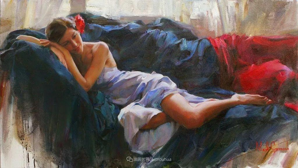 甜蜜的爱和彼此热爱的绘画,优秀浪漫的印象派伉俪画家插图111