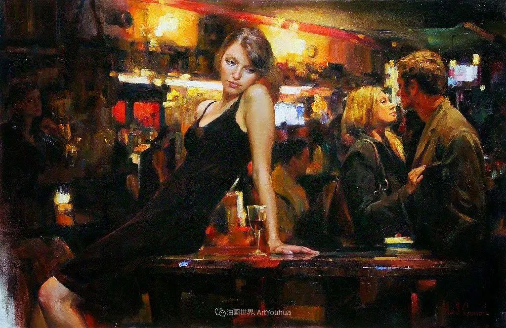 甜蜜的爱和彼此热爱的绘画,优秀浪漫的印象派伉俪画家插图117