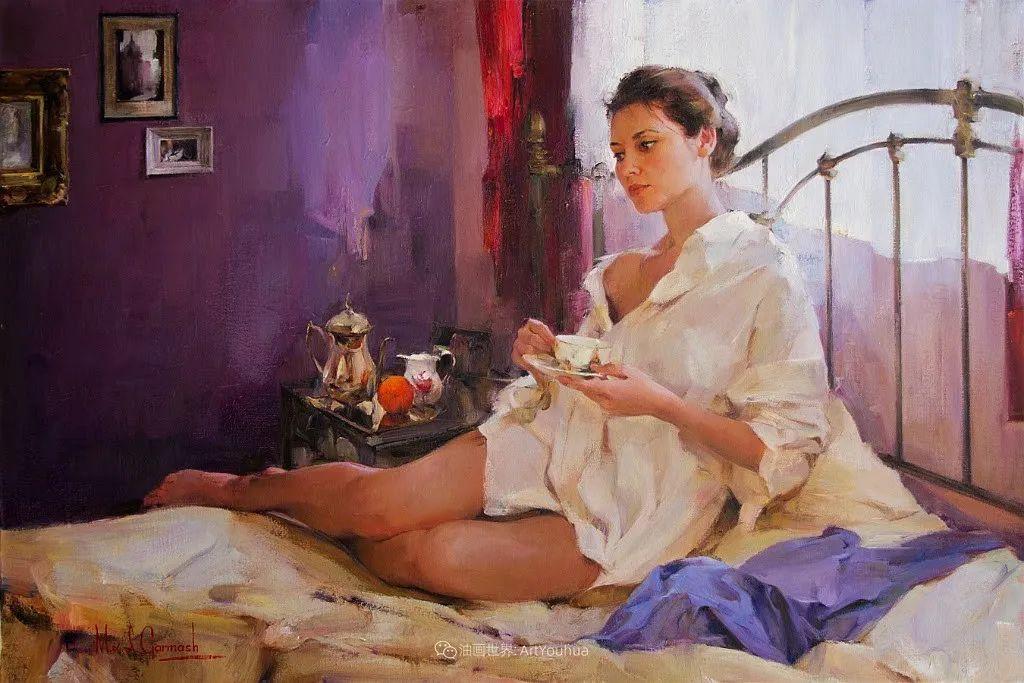 甜蜜的爱和彼此热爱的绘画,优秀浪漫的印象派伉俪画家插图123