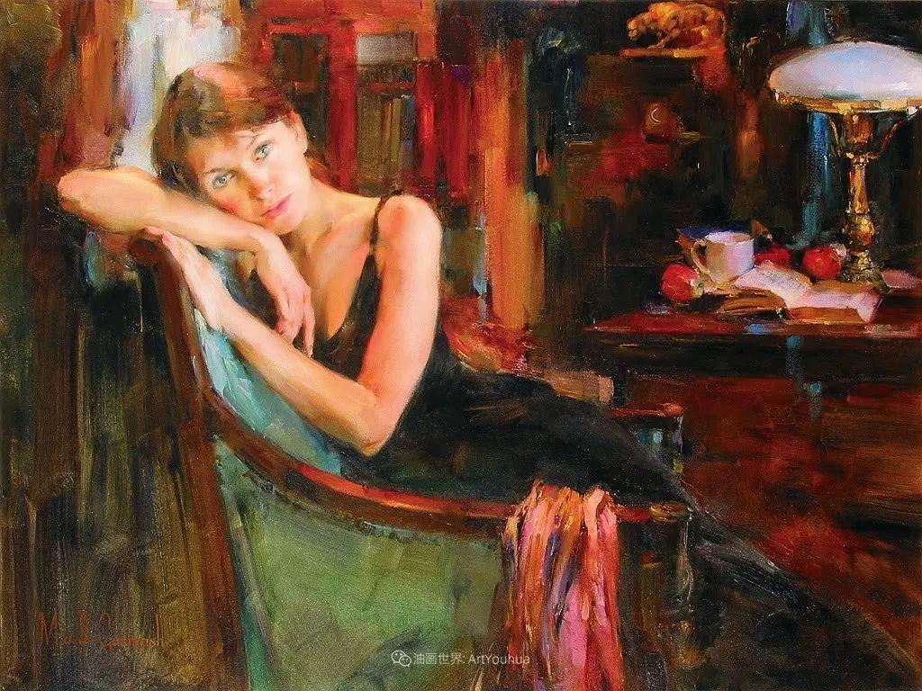 甜蜜的爱和彼此热爱的绘画,优秀浪漫的印象派伉俪画家插图125