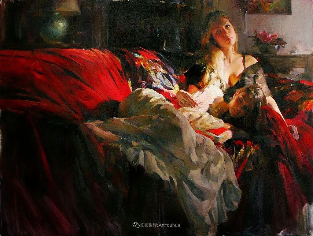 甜蜜的爱和彼此热爱的绘画,优秀浪漫的印象派伉俪画家插图131