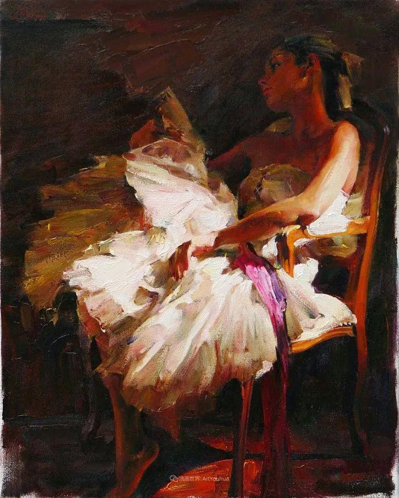 甜蜜的爱和彼此热爱的绘画,优秀浪漫的印象派伉俪画家插图133