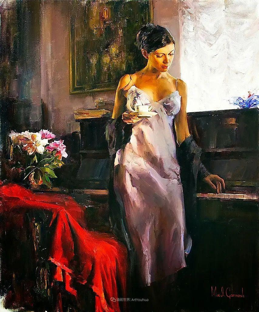 甜蜜的爱和彼此热爱的绘画,优秀浪漫的印象派伉俪画家插图135