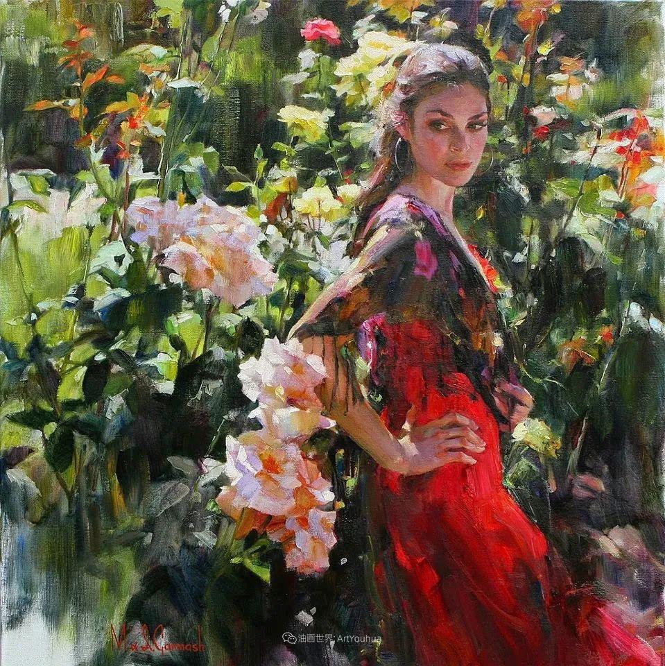 甜蜜的爱和彼此热爱的绘画,优秀浪漫的印象派伉俪画家插图137