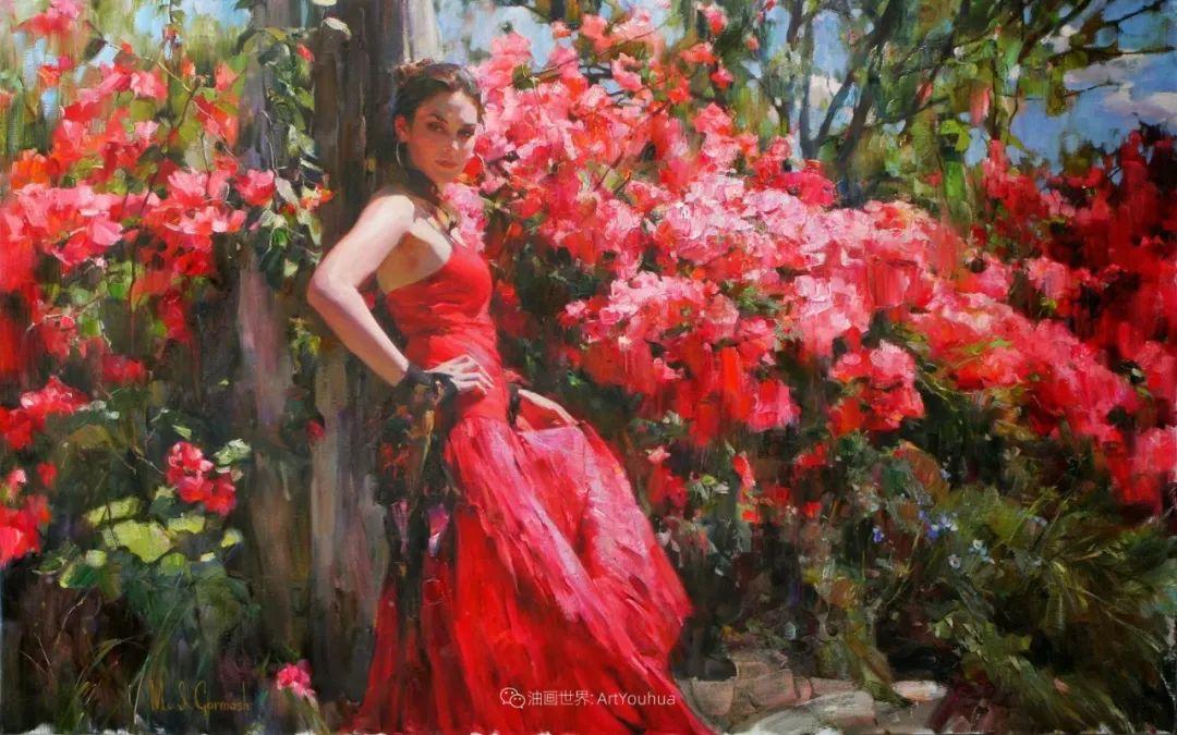 甜蜜的爱和彼此热爱的绘画,优秀浪漫的印象派伉俪画家插图139