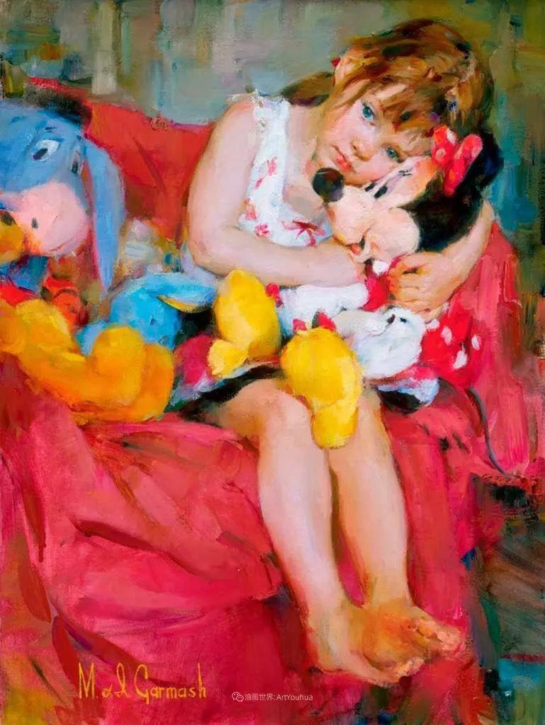甜蜜的爱和彼此热爱的绘画,优秀浪漫的印象派伉俪画家插图141
