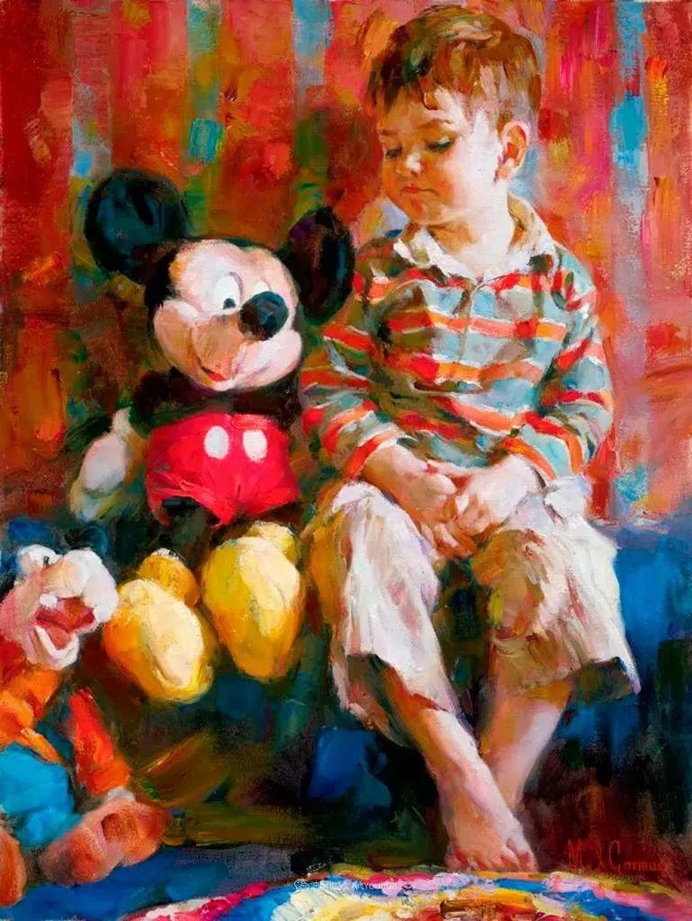 甜蜜的爱和彼此热爱的绘画,优秀浪漫的印象派伉俪画家插图143