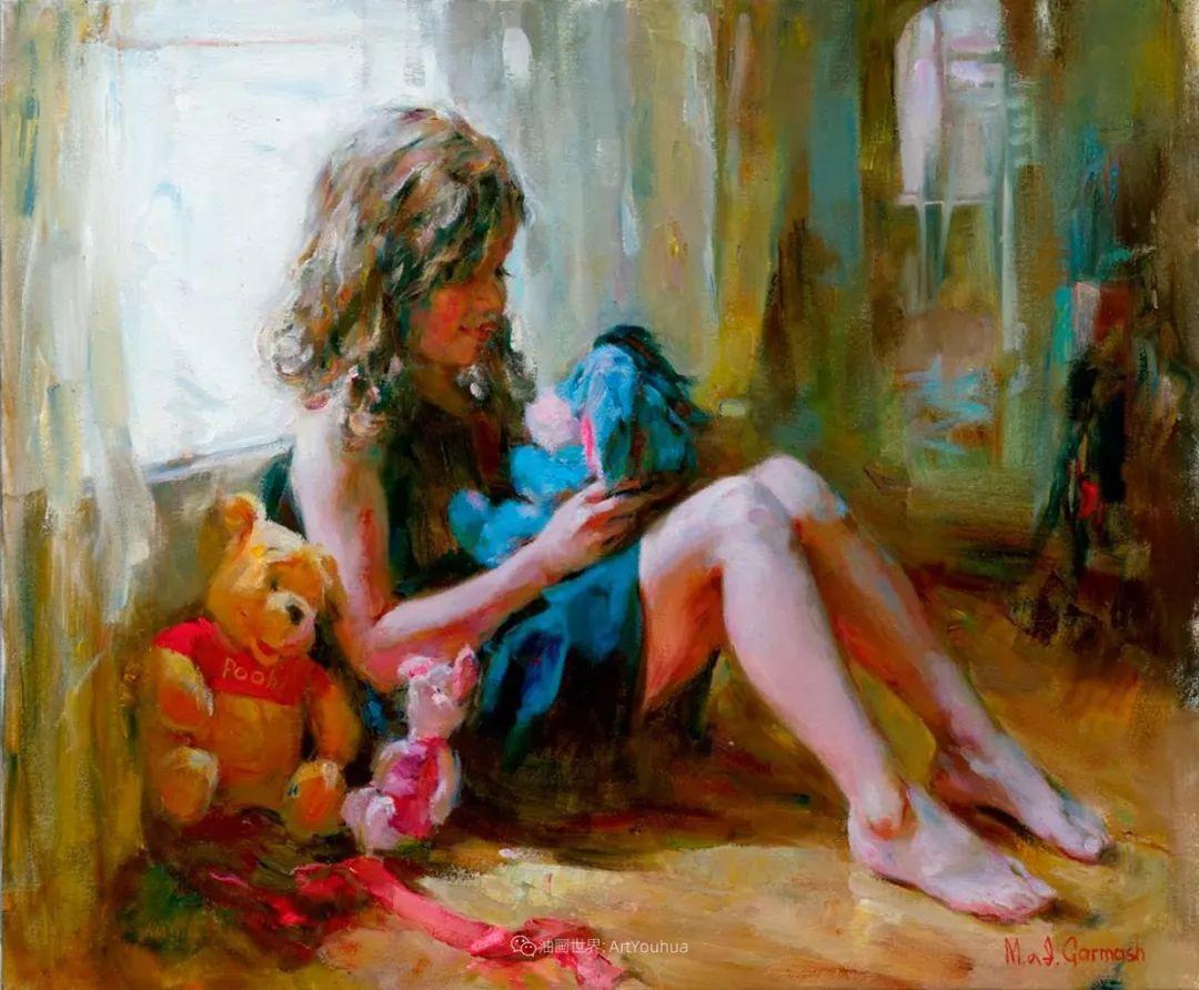 甜蜜的爱和彼此热爱的绘画,优秀浪漫的印象派伉俪画家插图145