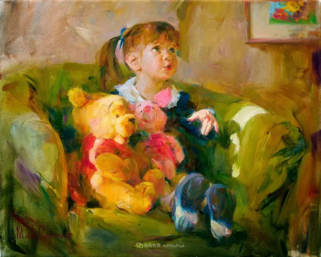 甜蜜的爱和彼此热爱的绘画,优秀浪漫的印象派伉俪画家插图147