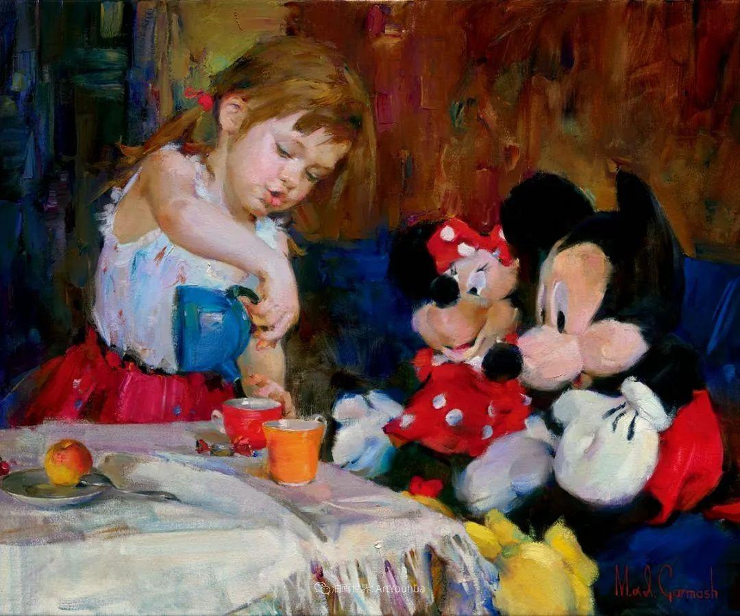 甜蜜的爱和彼此热爱的绘画,优秀浪漫的印象派伉俪画家插图151