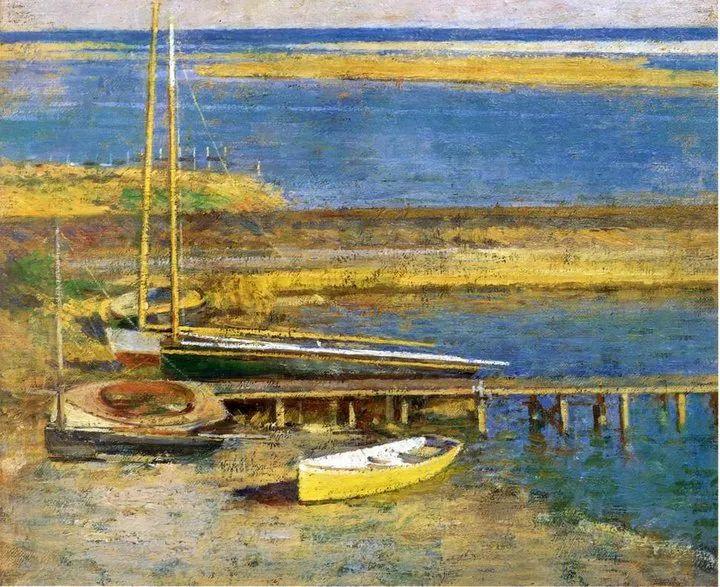 他与莫奈关系密切,是最早接触印象派的美国艺术家之一插图1