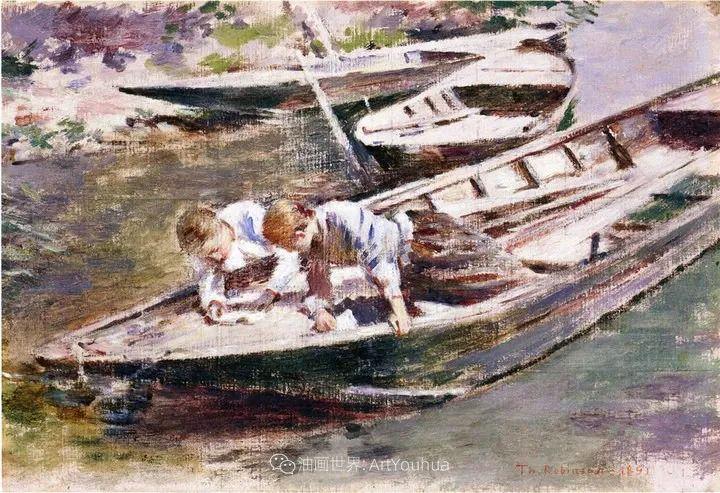他与莫奈关系密切,是最早接触印象派的美国艺术家之一插图85