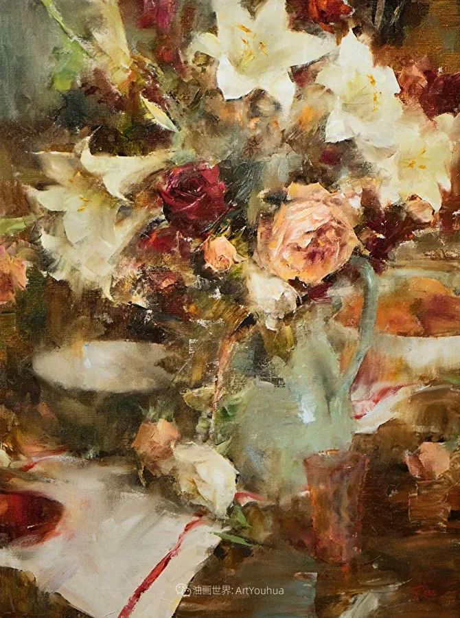 花与色的盛宴,印象派花草光影闪烁,生机盎然!插图93