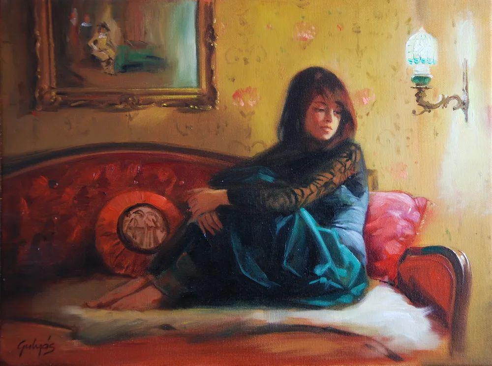 具象风格,匈牙利画家拉斯洛·古里亚斯插图77