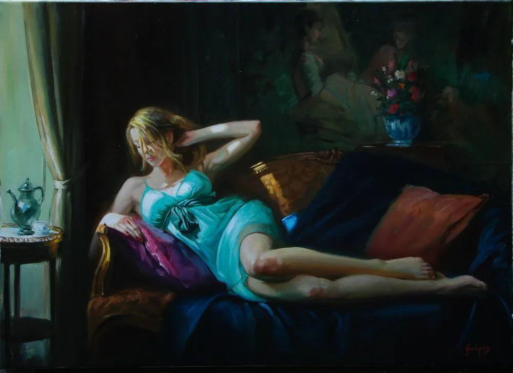 具象风格,匈牙利画家拉斯洛·古里亚斯插图83