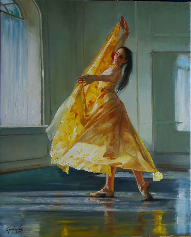 具象风格,匈牙利画家拉斯洛·古里亚斯插图87