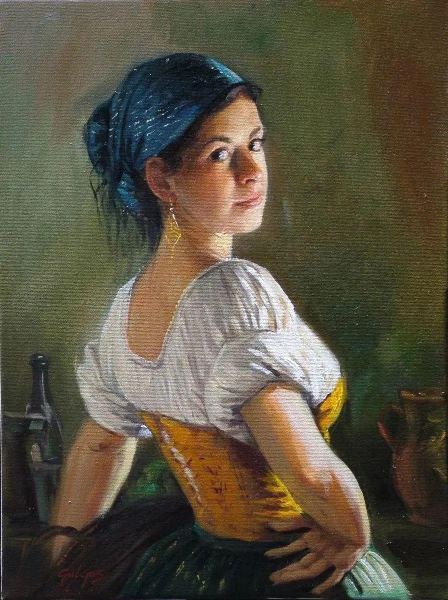 具象风格,匈牙利画家拉斯洛·古里亚斯插图93