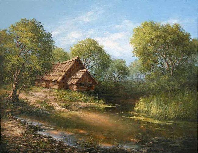 四季景色,俄罗斯画家迈克尔·伊万恩科作品选插图3