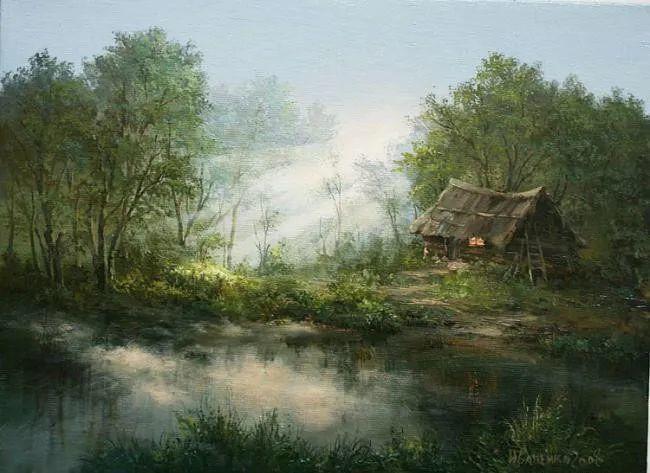 四季景色,俄罗斯画家迈克尔·伊万恩科作品选插图5