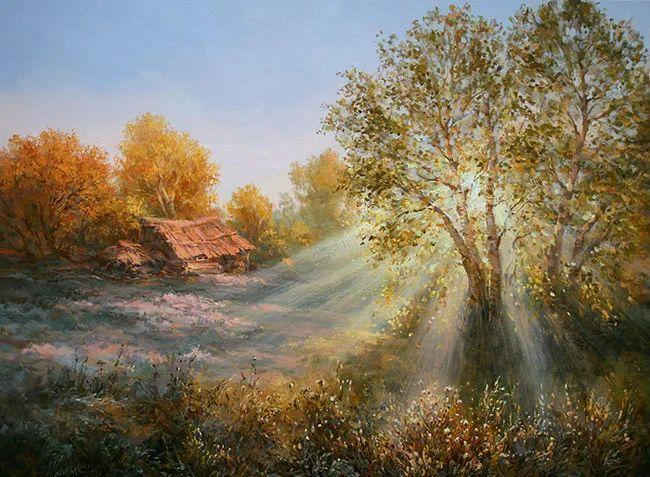 四季景色,俄罗斯画家迈克尔·伊万恩科作品选插图7