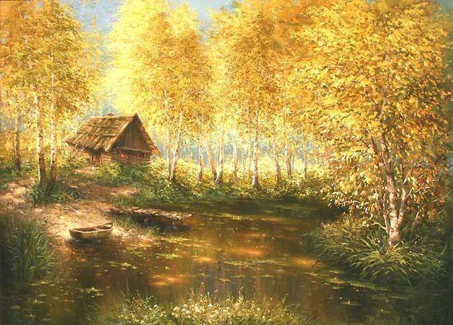 四季景色,俄罗斯画家迈克尔·伊万恩科作品选插图9