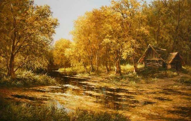 四季景色,俄罗斯画家迈克尔·伊万恩科作品选插图11